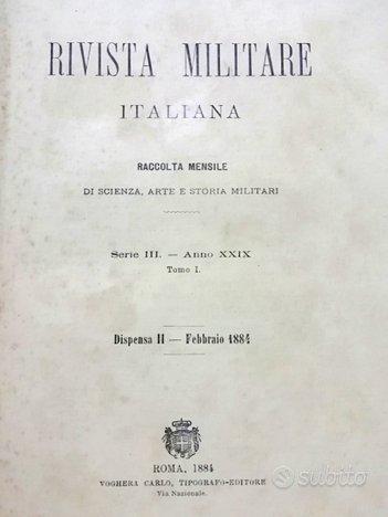 1884 - rivista militare italiana
