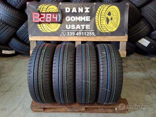 4 Gomme Usate 215 60 16C FURGONE 70% MICHELIN