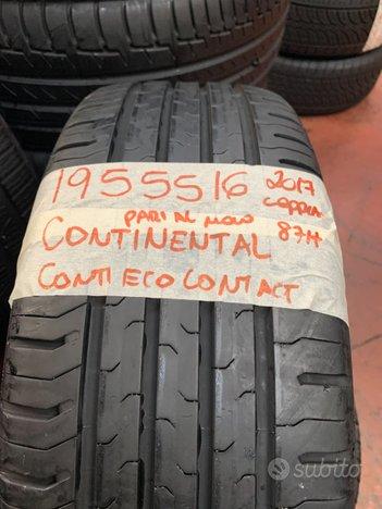 Gomme 195 55 16 continental estive pari al nuovo