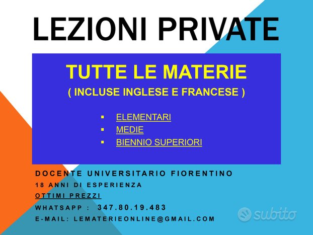 Lezioni private online