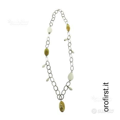 Collana in argento 925% con pietre colorate