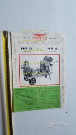 Guazzoni Motore Industriale anni 60 depliant epoca