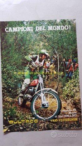 Bultaco gamma moto Cross Enduro Trial '77 dépliant