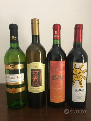 Lotto di bottiglie vino Kamasutra e altro