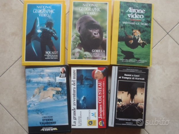 Videocassette vhs film documentari/Schwarzenegger