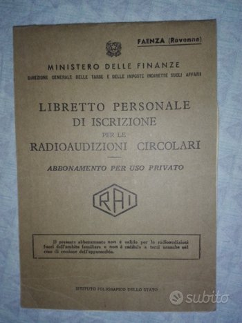 Libretto tv radio