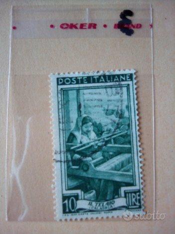 Francobollo il telaio 1950 Lire 10 Calabria