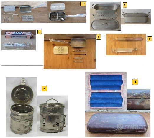 Antichi attrezzi medici sterilizza siringa ago