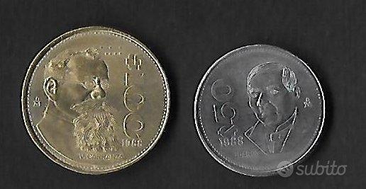 2 monete MESSICO 1988 50 e 100 pesos qFDC