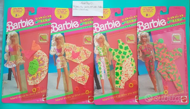 Lotto 4 outfit Barbie Hawaiian Fun NRFB vintage