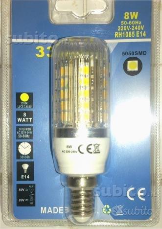 Lampada E14 - 33 led grandi - Luce Calda - 8W