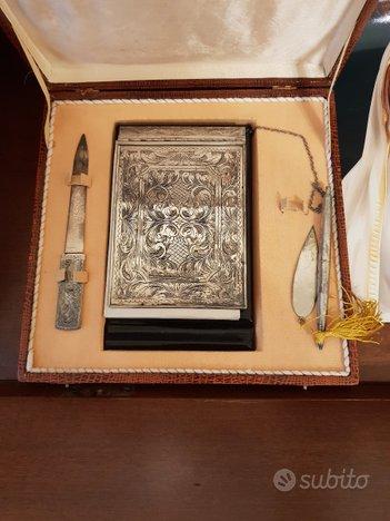 Set antico da scrivania in argento
