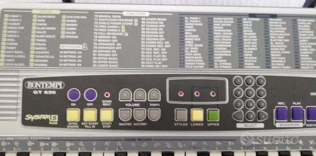 Tastiera elettronica bontempi GT 820