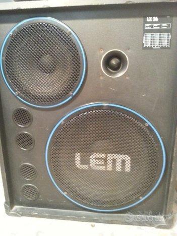 Casse Lem,amplificate 400watt mod LX26