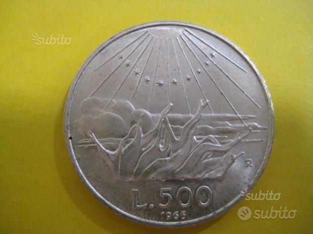 500 Lire Argento 1965 Dante Rif. 202