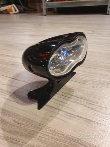 Faro nero regolabile Moto Custom Special