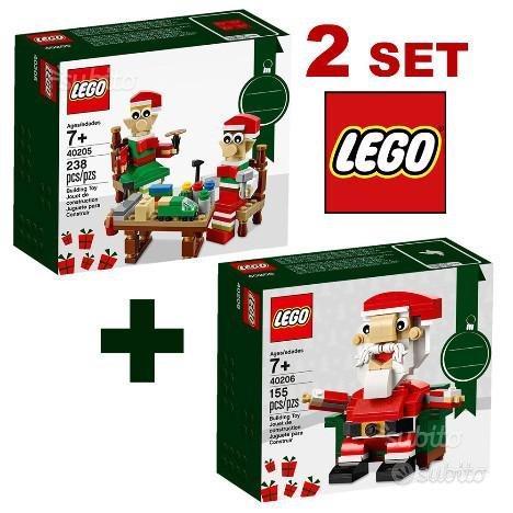 LEGO 40205 Piccoli Elfi + 40206 Babbo Natale