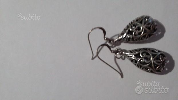 Orecchini pendenti argento indonesiano