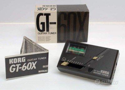 KORG GT-60X accordatore per chitarra-basso