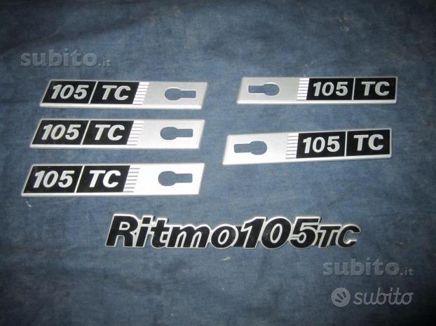 Fiat ritmo 105 tc abarth e 130 tc scritte stemmi