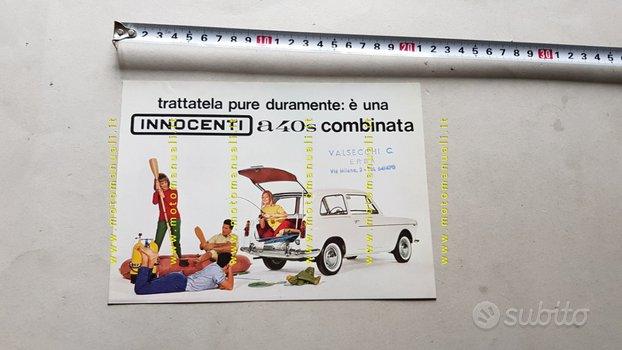 Innocenti A 40 Combinata 1961 depliant originale