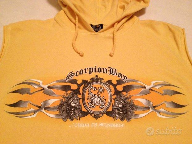 T-shirt stretch smanicata + cappuccio Scorpion Bay