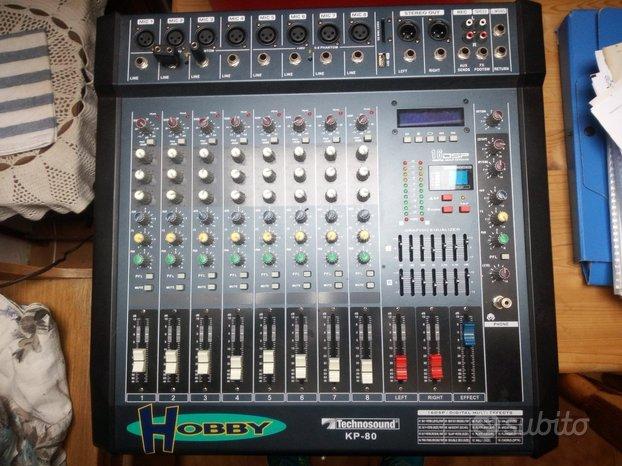 KP-80 MP3 Mixer 8 Canali TECHNOSOUND