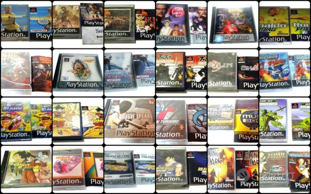 PS1 GIOCHI boxed games SONY game Playstation 1