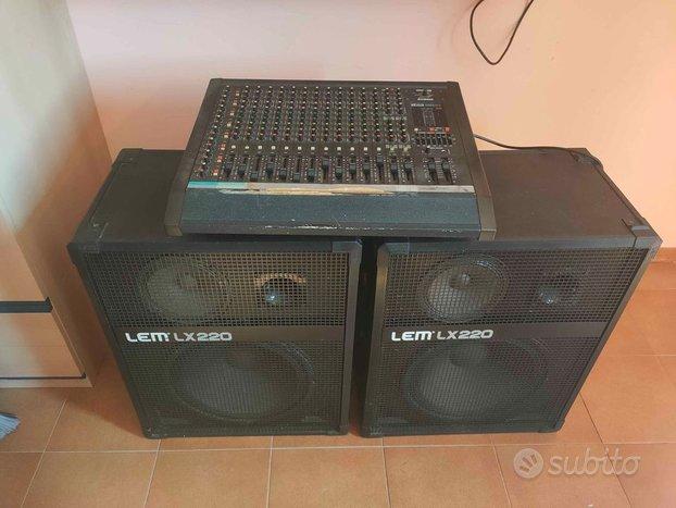 Impianto LEM con 2 casse LX220 e mixer LEM compact