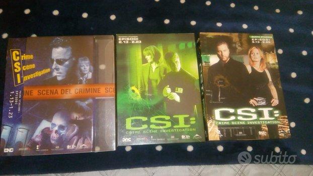 Lotto cofanetti dvd serie CSI 9 dvd