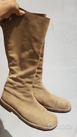 Stivali pelle e camoscio beige 38