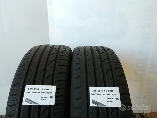 Gomme estive 215 55 r 18 continental usate