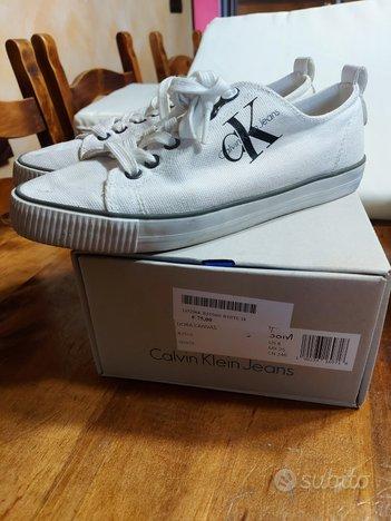 Calvin klein Jeans scarpe usate tg.38 bianche