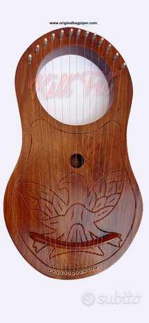 Lyre Harp 18 Corde Rosewood Design fatto a mano co