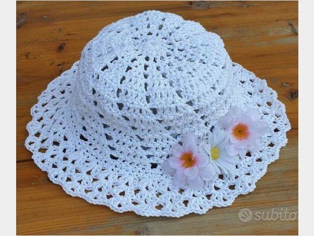 Cappello donna estivo all'uncinetto. summer