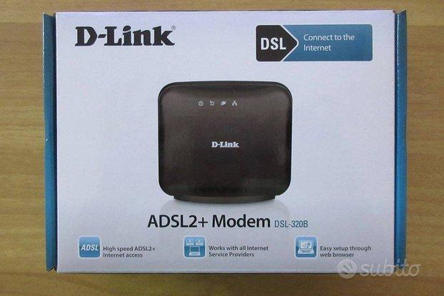 D-Link Modem ADSL2+ Ethernet DSL 320B + 10 filtri