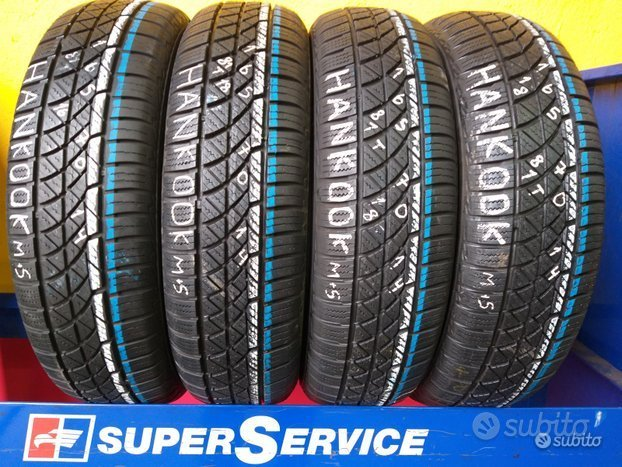 4 gomme 4 stagione 165 70 14 al 85% hankook