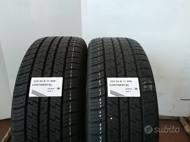 Gomme estive 235 55 r 17 continental usate