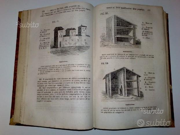 Carabelli Codice Civile 1865 Sonzogno