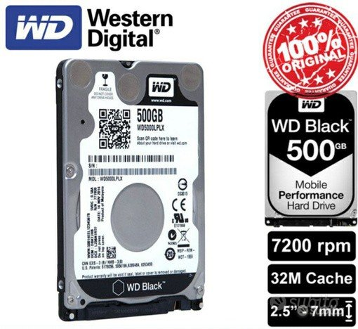 WD Black 500GB 2.5