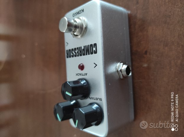 Pedale chitarra elettrica compressor