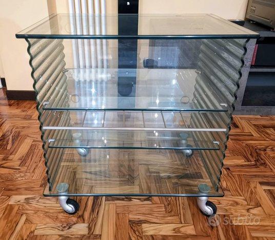 Porta TV orig FIAM Italia mod Onda Radio cristallo,FIAM