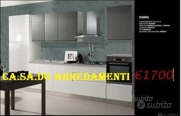 Cucina L. 360 cm laccata