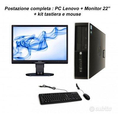 Postazione completa: Pc HP G620 + Monitor Philips