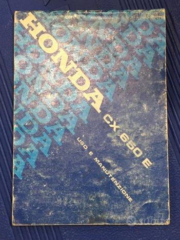 Honda CX650 E Libretto uso e manutenzione