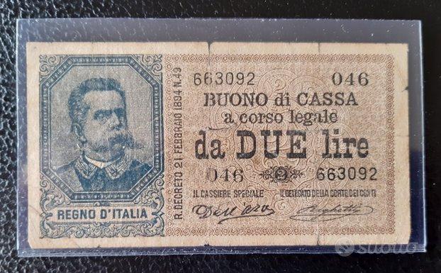 Banconote italiane - regno & colonie