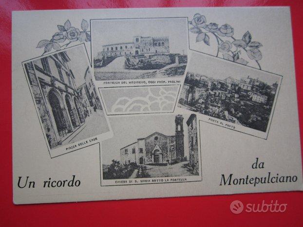 Montepulciano 2 cartoline antiche