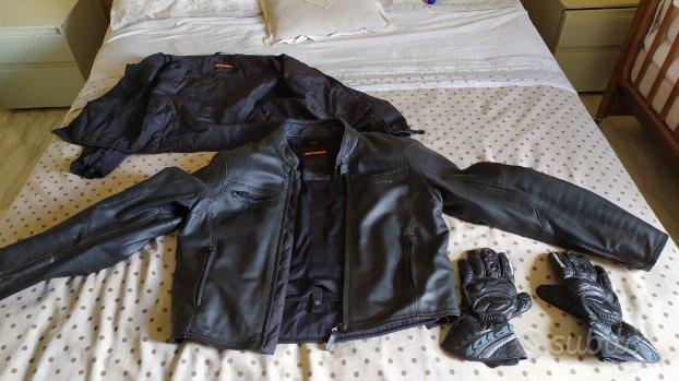 Giubbino moto spidi con imbottitura più guanti