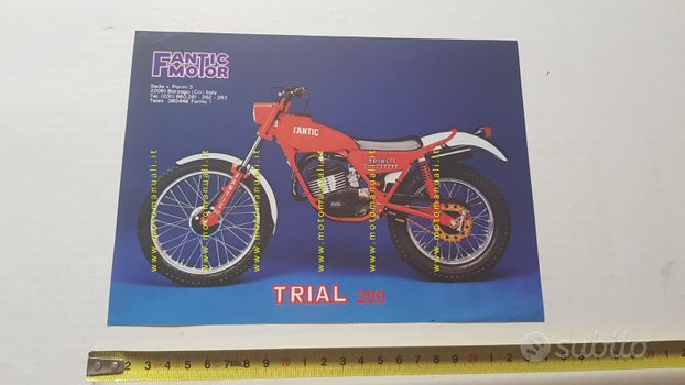 Fantic Motor Trial 200 1979 depliant francese
