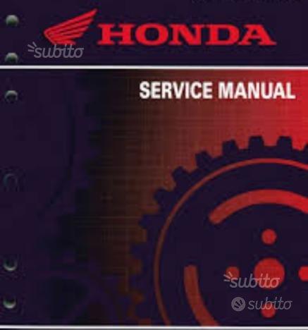 Manuale Honda CR CRF in italiano PDF